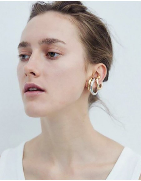 ALEXA Gold Suspender Ear Cuff | Big Size
