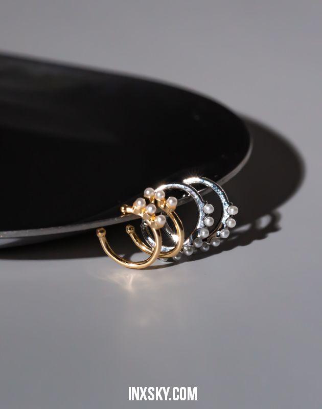 ODILE Pearl Ear Cuff Set