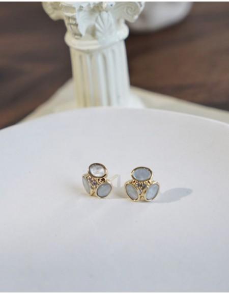 AMELIA Earrings   Greyish Blue