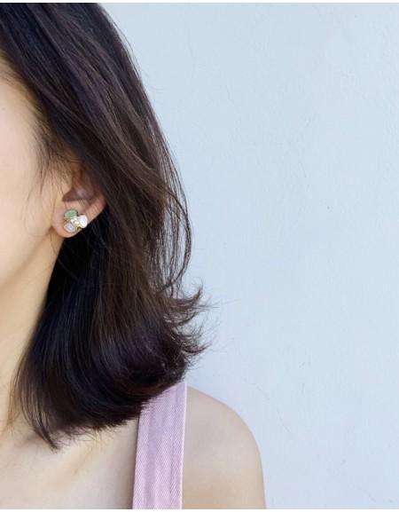 AMELIA Earrings   Pinky Green