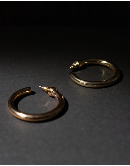 C-HOOPS Gold Earrings