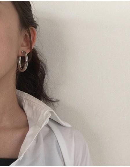 C-HOOPS Silver Earrings