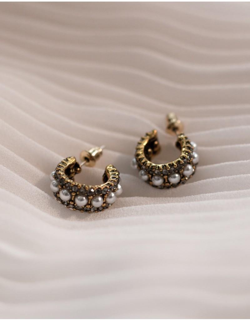 EDITH Pearl Hoop Earrings