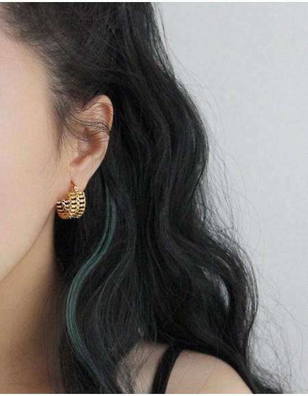 KELLY Double Chain Hoop Earrings