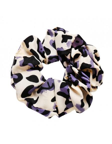 LEOPARD Scrunchie | Iris Purple