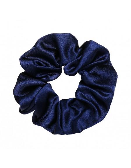 Silky Scrunchie | Navy Blue