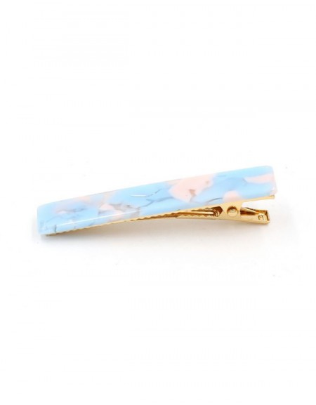 COTTON CANDY Hinged Barrette | Long Hair Pin - Candy Blue