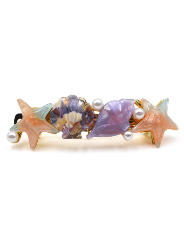 SHELL PARTY Hair Barrette | Purple