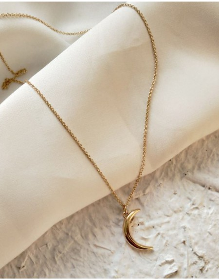 CRESCENT Gold Necklace